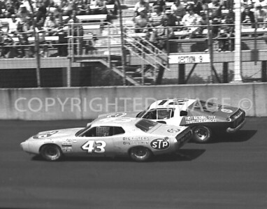 Michigan Int, #43 Richard Petty #12 Bobby Allison, NASCAR, 1977