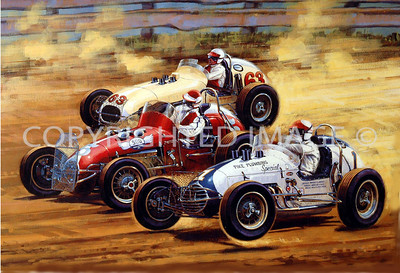 Eldora, Painting, First USAC Race, 1962