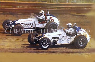 Eldora, Don Branson, Mario Andretti, 1966