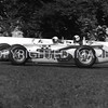 Milwaukee, 1 A J Foyt dives under 2 Ward, 1961