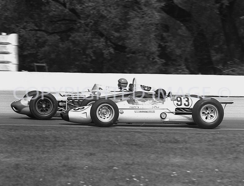 Milwaukee, 93 Gurney Puts a Pass On 9 Eddie Sachs, 1963