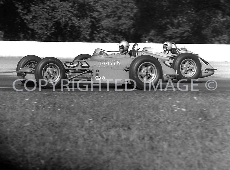 Milwaukee, 6 A J Shepherd passing 31 Bobby Marshman, 1961