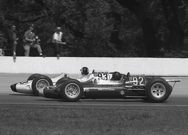 Milwaukee, 92 Jim Clark, 93 Dan Gurney, start on front row, 1963