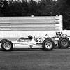 Milwaukee, 93 Dan Gurney gets by 2 A J Foyt in fight for 2nd place, 1963