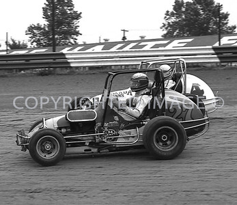 Terre Haute, #4 Jerry McClung Gets By A Back Marker, Hut Hundred, 1971