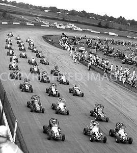 Terre Haute, Start of Race, 33 Midgets For Hundred Laps, Hut Hundred, 1971