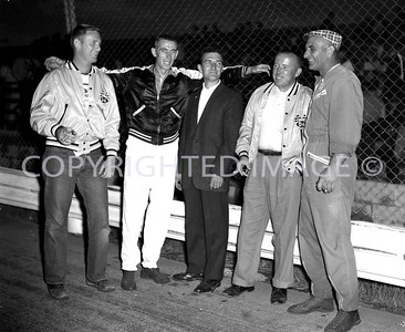 Anderson, Little 500, White wanted a shot of the USAC drivers in Outlaw pits