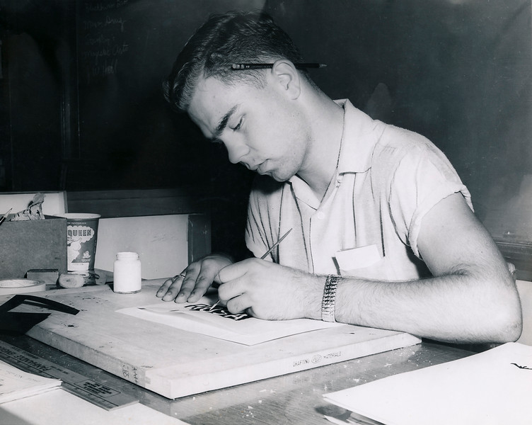 1955 lettering art