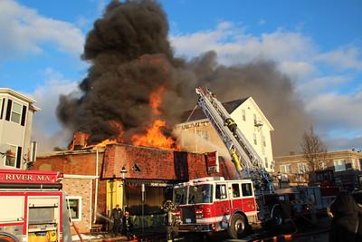 Multiple Alarm Fire - Flint Hardware, Fall River, MA - 2/2/18