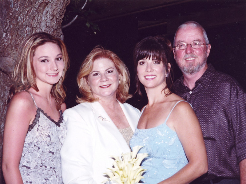 2002: Georgetown, TX; Claire, Donna, Linda, and Gerry at Linda & John Gustainis' Wedding