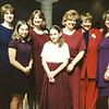 1997: October 18th; at the Wedding of Helen and Howard Eglett; Ann, Kathryn, Donna, Mary, and Carole in back; Jillian and Claire in front.