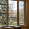 Looking out the dining room windows to the rear.  As in Hollin Hills, frequent deer sightings.