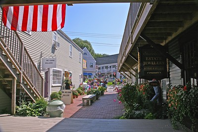 One of the side streets off Dock Square in Kennebunkport,  ME