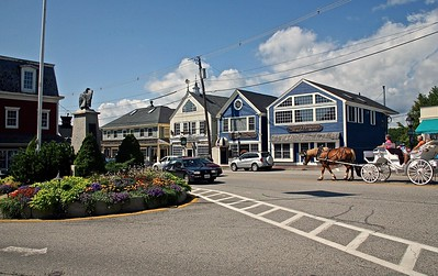 A View of Dock Square Kennebunkport, ME