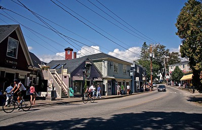 A weekend afternoon in downtown Kennebunkport Maine