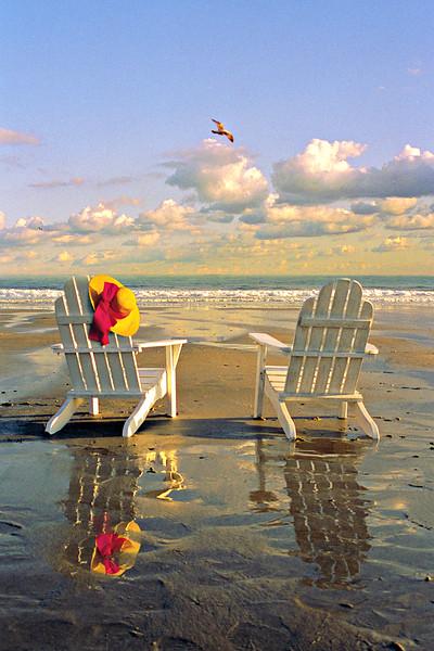 Beach chairs, Kennebunk Beach