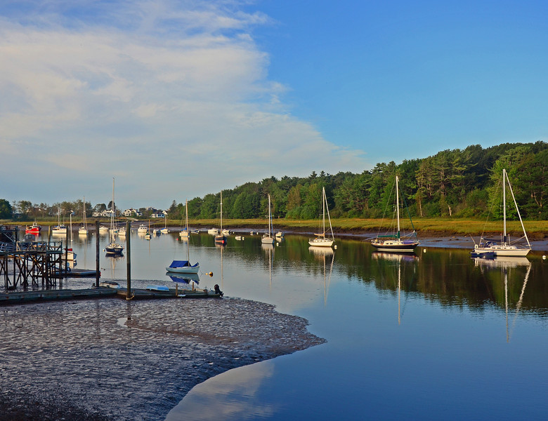 Low tide, Kennebunk River