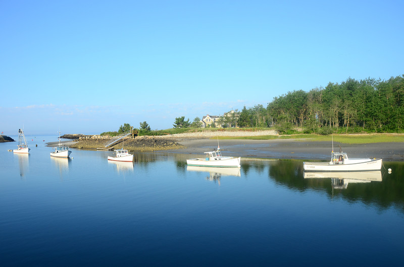 Lobster boats, Kennebunk River