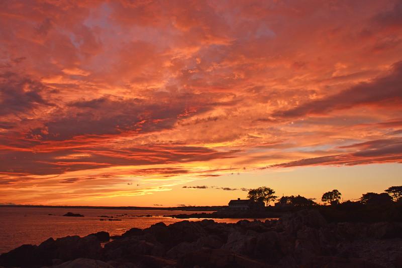 Sunset along Ocean Avenue