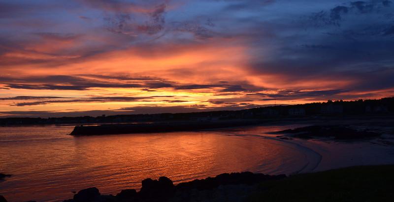 Sunset over the breakwater
