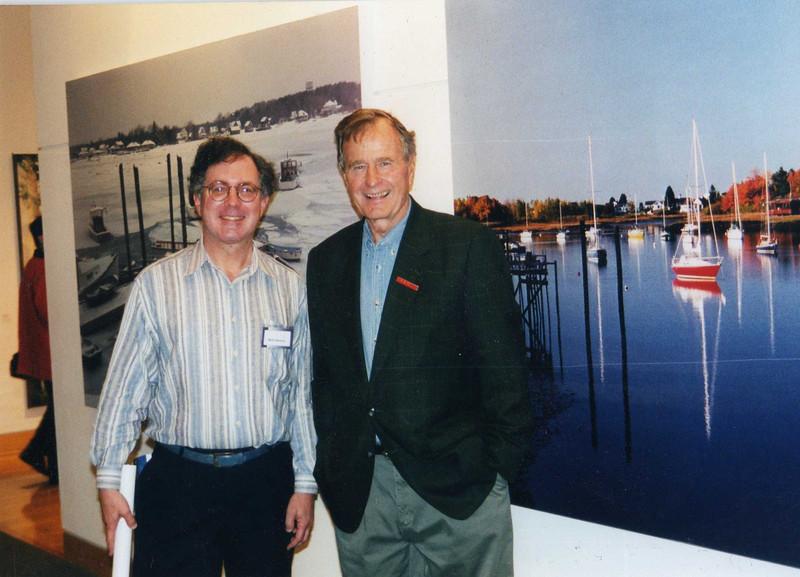 1999, my photo exhibit at the Bush Library, Texas