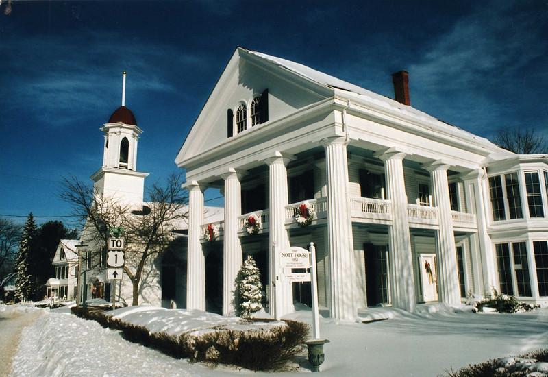 White Columns and Village Baptist Church