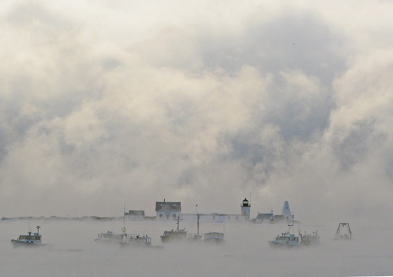 Sea smoke, Goat Island Light