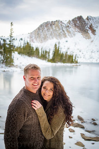 Kenny + Stephanie | Engagement Photos | Snowy Range, WY  Photo by Kyle Spradley | © Kyle Spradley Photography | www.kspradleyphoto.com