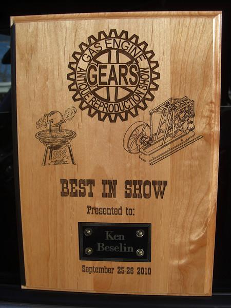 Best Of Show, GEARS Portland 2010....Anacortes resident Ken Beslin...