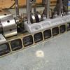 Custom brass engine beds made by Ken...