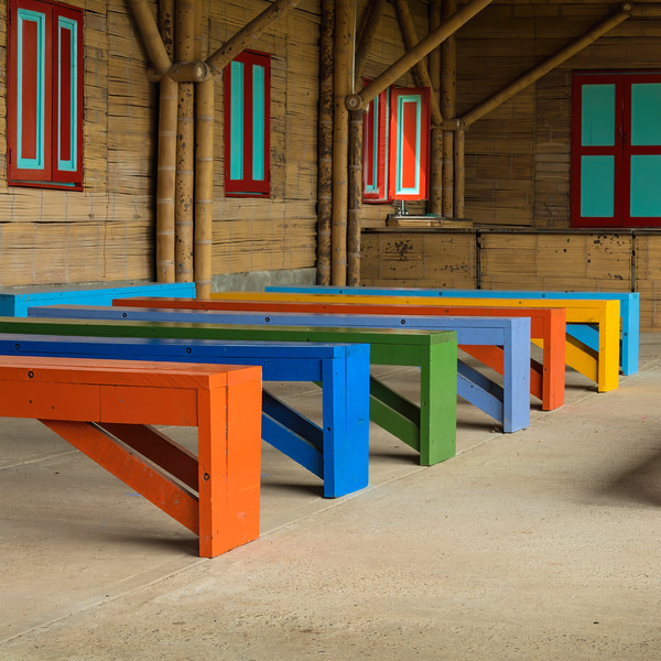 Colored Benches