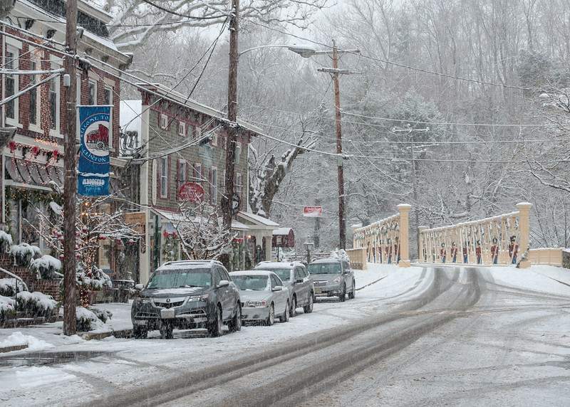 Clinton On A Snowy Day