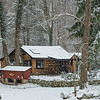 Cabin on a Snowy Day
