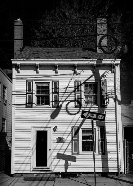 Shadows on Old Bordentown Home