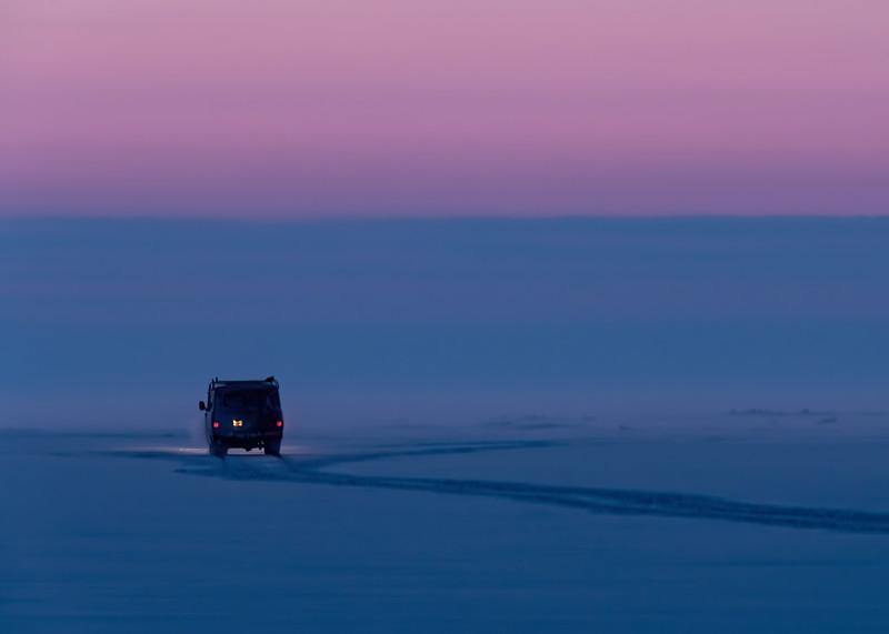 Van at Purple Hour