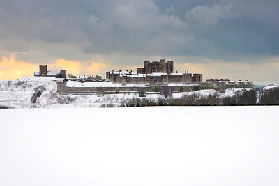 Dover Castle in Deep Winter