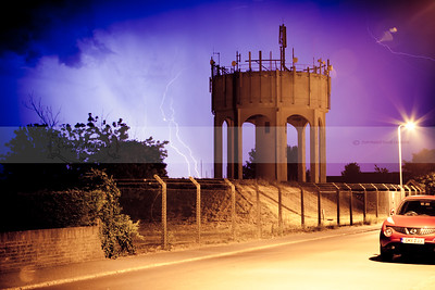 Lightning Over Deal Town water tower 2014