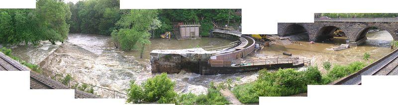 May 2004 during dam rebuild