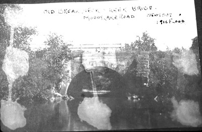 Lakewood Rd., before 1913 flood.  Canal era bridge carried traffic and canal.