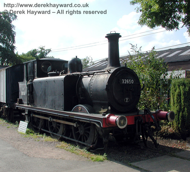 32650 on display at Tenterden for fund raising purposes. 30.08.2000.  This engine is now at the Spa Valley Railway.
