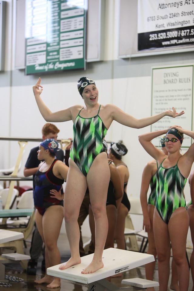 2016 Kentridge Girls Swim and Dive vs Kent Meridian - Oct 4
