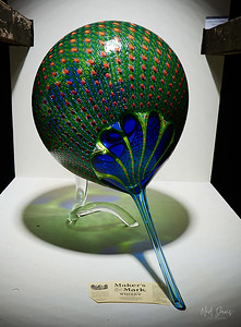 Art Glass on display in Storage Building