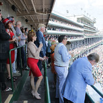 Robert and Cate  Williamson, Nora Roberts and Bruce Wilder watching one of the races.