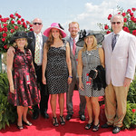 Peggy and Pat Payne, Gina Lazzari, Logan Payne, Mimi Loan and Richard Whitaker from Taylor Made Farms where American Pharoah was kept.