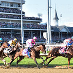 First turn Kentucky Derby 2015.