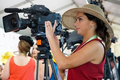 Erin Keeney Sets Up for Derby's Red Carpet.