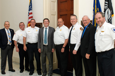 The Kentucky Ambulance Providers Association Congressional Delegation with U.S. Representative Thomas Massey at his House Cannon Office.