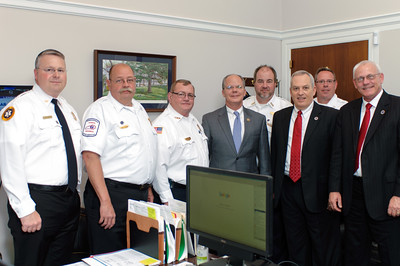 Kentucky Ambulance Providers Association Congressional Delegation with U.S. Representative Brett Guthrie in his House Rayburn Office.