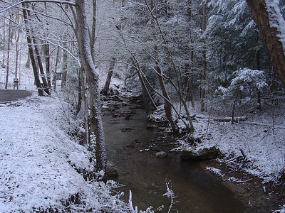 Natural Bridge State Park during the Winter