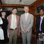 Pam Klinner, Gregory Bubalo, Churchill Downs CEO William Carstanjen and Clarence Mitchell.